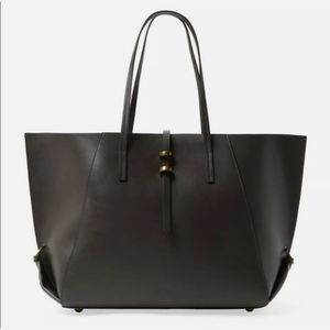 ZAC ZAC POSEN Eartha Leather Tote Handbag Black